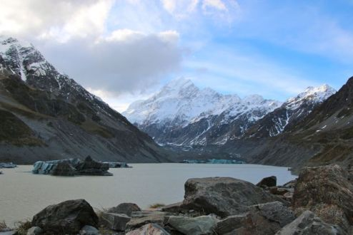 Mt Cook, & the Hooker Glacier Terminus