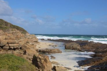 Shore line at Wilyabrup Cliffs