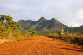Driving through the Stirling ranges towards Mt Toolbrunup