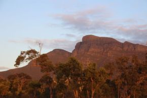 Bluff Knoll in the setting sun