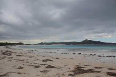 Lucky Bay minutes before the storm