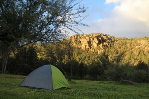 Home for the night at Warren Gorge