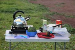 My Kitchen with whistling kettle, a complete car camping indulgence
