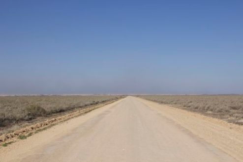 Driving across the former Mungo Lake