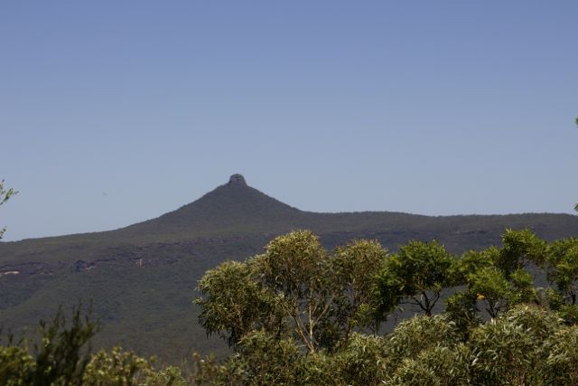 View of Pigeon House Mountain from The Castle Track