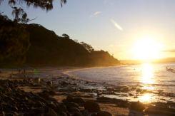 Sinking sun Wattegos Beach, Byron Bay
