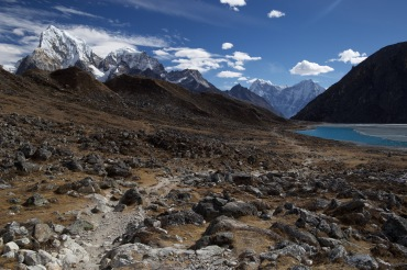 Looking back....on the day we were walking to Gokyo, I didn't know what was better - the view in front or behind me like this!!