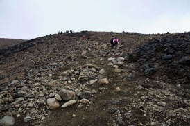 Approaching the summit of Red Crater