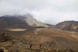 Clouds rolling in as we climb to Red Crater