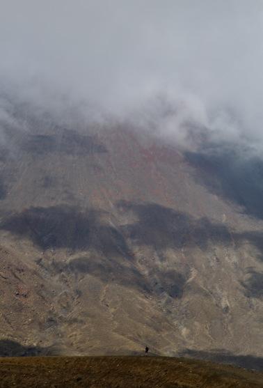 Lone Hiker on the ridge